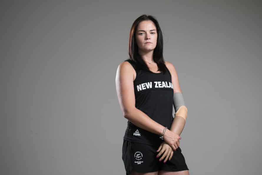 Javelin thrower Holly Robinson from New Zealand