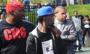 Members of the Bloods and the Crips unified at a Sandtown park amid protests in Baltimore.