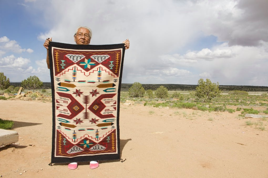 Mae Tso made pigments from plants and wove the hand-dyed wool into exquisite traditional rugs that were famous among art collectors. Photograph: Courtesy of her family