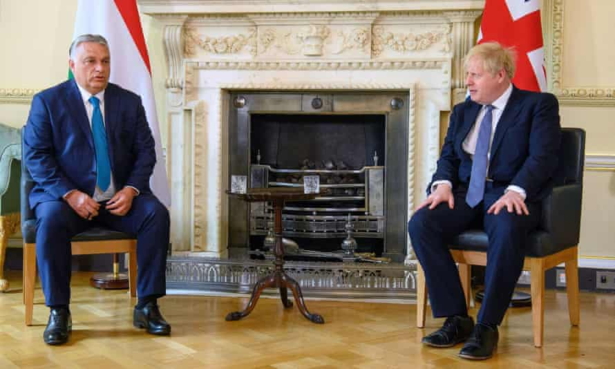 Boris Johnson met with the Hungarian prime minister Viktor Orbán at Downing Street last month.