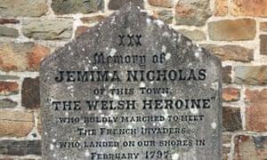 Jemima Nicholas's grave in St Mary's churchyard, Fishguard