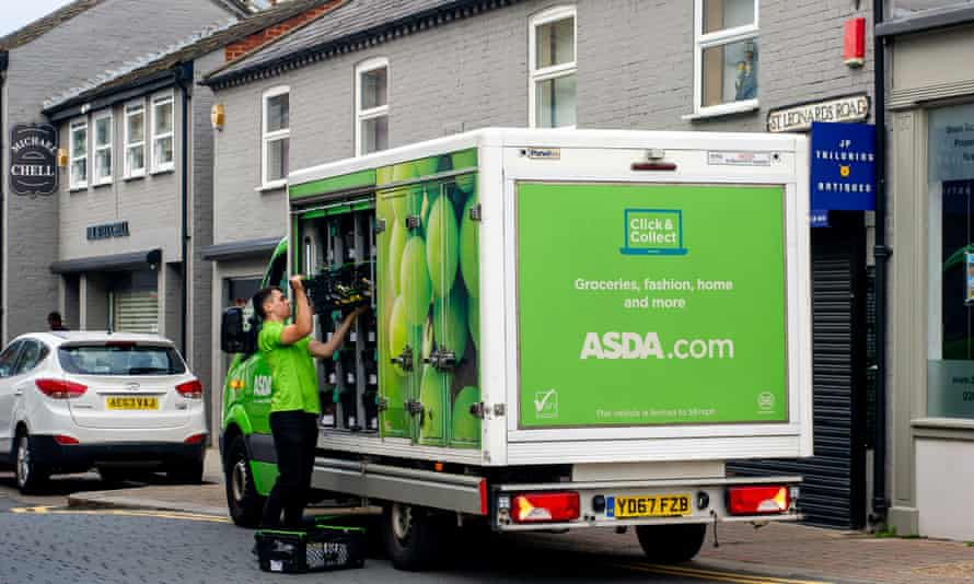 Asda delivery to a Nisa corner store in Windsor