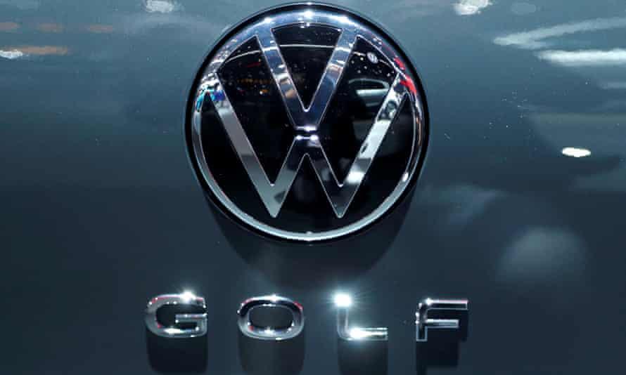 logo of German carmaker Volkswagen
