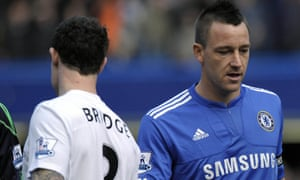 John Terry, Wayne Bridge and the famous missed handshake. 'Above all, what was largely forsaken in the feeding frenzy was any concept that these were humans, for all their faults, having their lives ripped to pieces.'