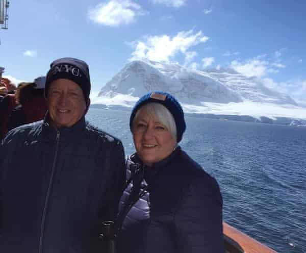 Bryan and Kay Tolra, on one of their frequent pre-pandemic cruises.