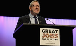 Len McCluskey at the TUC annual conference