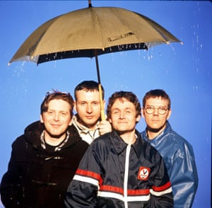 Teenage Fanclub in 1997 (l-r): Norman Blake, Raymond McGinley, Gerry Love and former drummer Paul Quinn.