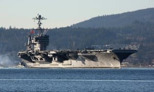 The aircraft carrier USS John Stennis, which was refused permission for a port visit in Hong Kong.