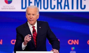 Democratic US presidential candidate Joe Biden