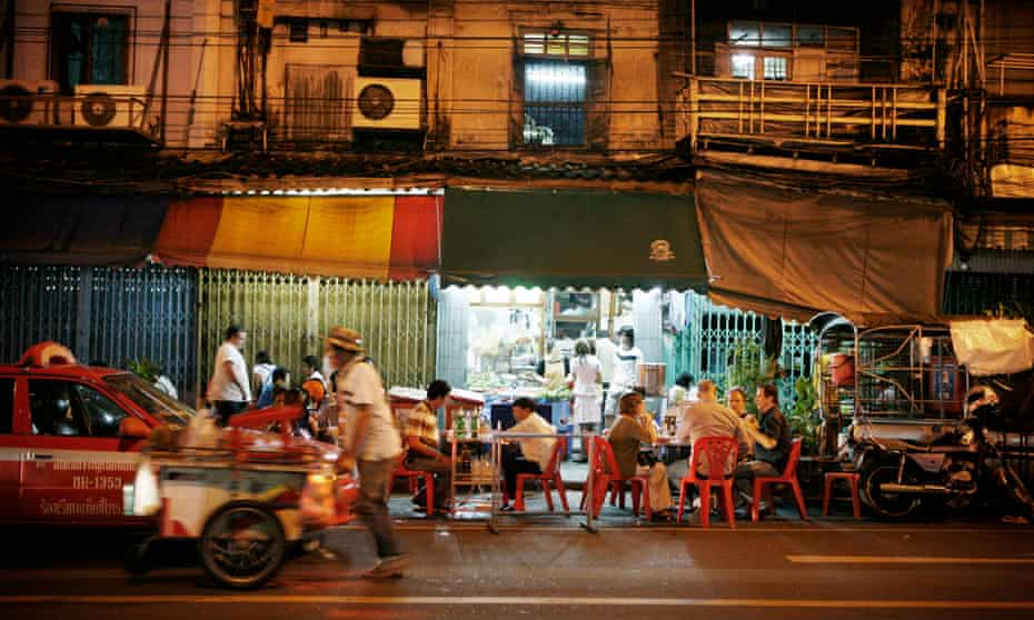 Street food stall in Bangkok, Thailand.
