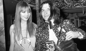 Celebrity culture … photographer David Bailey with model Penelope Tree.