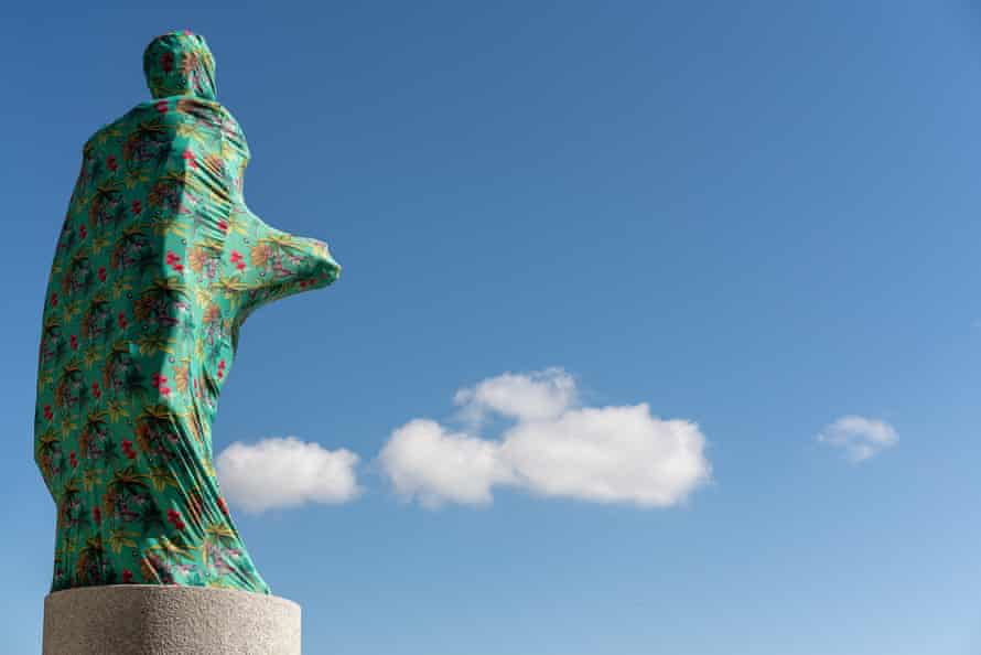 Joiri Minaya - The Cloaking of the statue of Christopher Columbus