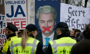 Freedom Party leader Geert Wilders portrayed himself to Dutch voters as a champion of liberty after his conviction for hate speech