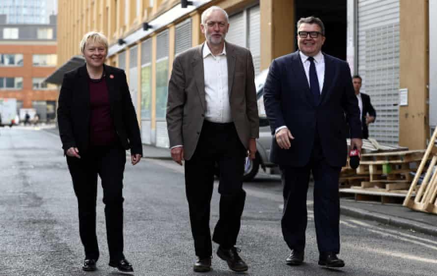Angela Eagle, Jeremy Corbyn and Tom Watson