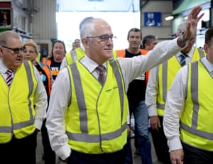 Malcolm Turnbull at Sydney Growers Market on Tuesday.