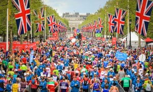 Marathon runners won't be crossing the finish line on the Mall until 4 October at the earliest.