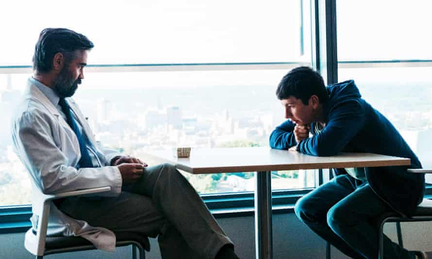 'My first impression of him was that he was a pure burst of Irish energy' ... Farrell with Keoghan in The Killing of a Sacred Deer.