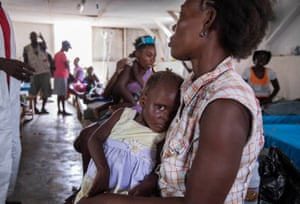 Patients suffering from diarrhoea and cholera are treated at the Hospital St-Antoine in Jérémie