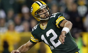 Aaron Rodgers throws long. The Packers are now 2-0, but the Seahawks have made a losing 0-2 start.