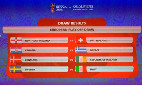 World Cup play-offs: Denmark v Rep of Ireland, Northern Ireland v Switzerland