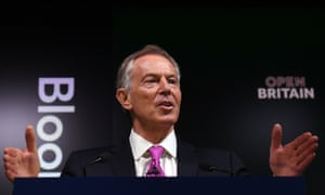 Tony Blair making his speech at the Open Britain event.