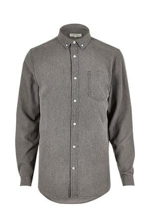 dark grey shirt River Island