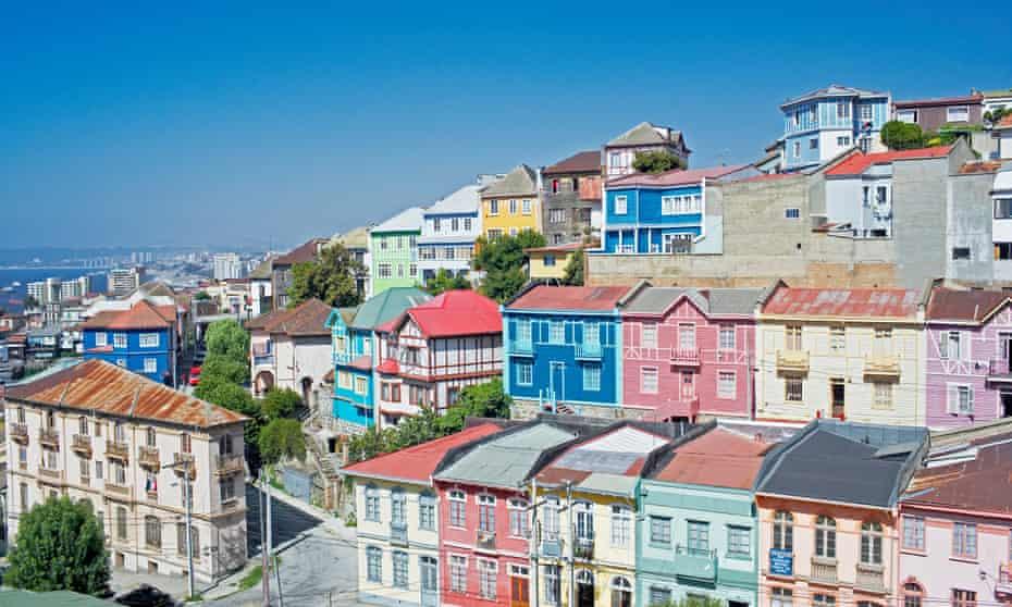 Traditional hillside houses in Valparaiso.
