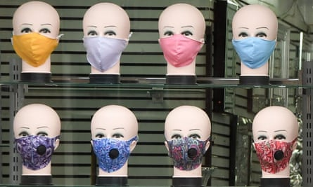 'Statistics? Not my thing …' a shop selling face masks in Glasgow.