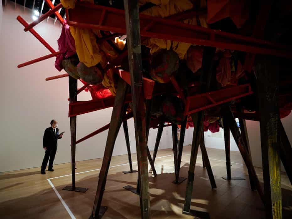 Phyllida Barlow's work at Mori Art Museum, Tokyo.