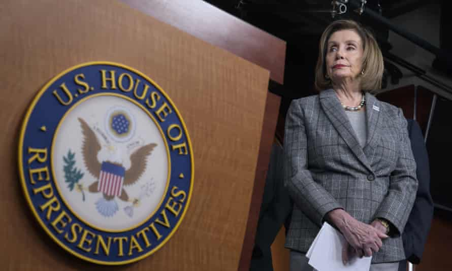 Nancy Pelosi is in charge of debate over the articles of impeachment on the House floor.