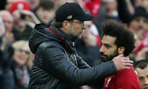 Jürgen Klopp said of the chants about Mohamed Salah: 'We should not see it as a Chelsea or Liverpool thing.'
