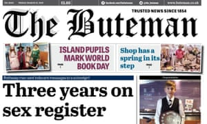 The Buteman was able to claim it had provided 'trusted news since 1854'.