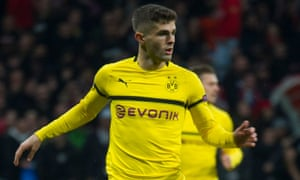 Christian Pulisic has been restricted to just four league starts with Dortmund this season