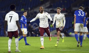 Alexandre Lacazette celebrates after scoring Arsenal's winner at the Amex.