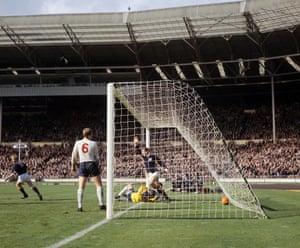 St John scores at Wembley.