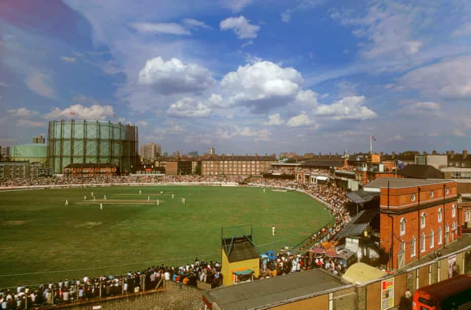 A view of the final match of the series at the Oval from the Archbishop Tennyson's school