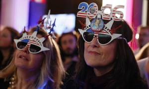 People attend a gathering at the Maison de la Radio, the French public service radio broadcaster Radio France's headquarters, to follow the results of the US election