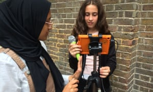 Pupils from George Mitchell school, in Leyton, east London