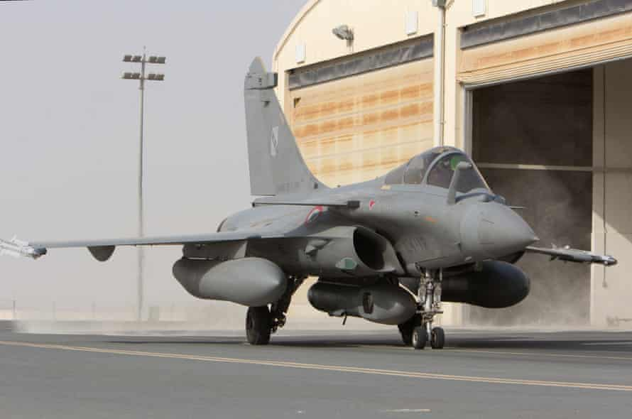 A French Rafale fighter at a base in the Gulf