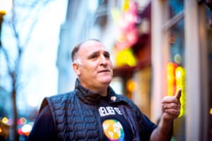 Celebrity chef Jose Andres, whose work has been focused on his Work Central Kitchen, an NGO devoted to providing meals in wake of natural disasters and other emergencies.