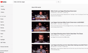 YouTube search results offer conspiracy theories about Mike Cronk.