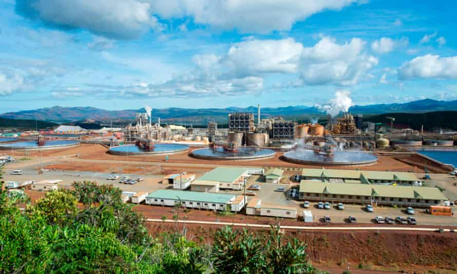 Vale's nickel processing plant in Goro in southern New Caledonia. The future of the smelter, critical to New Caledonia's economy, is the fiercely contested
