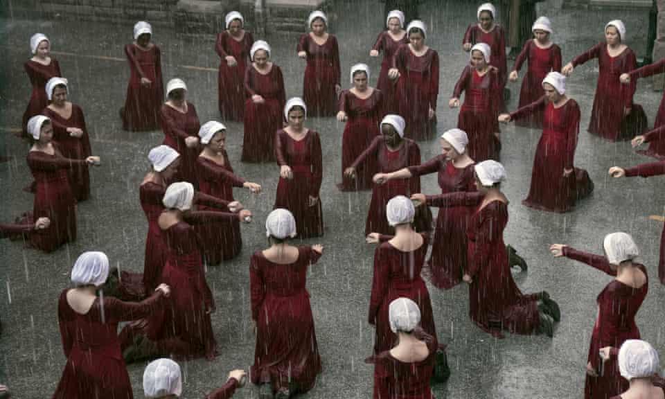 Under the bonnet... the handmaids.