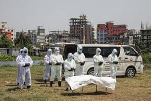 Funeral prayers for a victim of the coronavirus pandemic, Dhaka, Bangladesh
