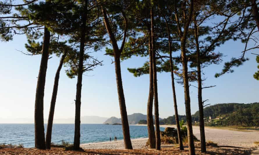 Playa del archipiélago del Queso cerca de Vigo.