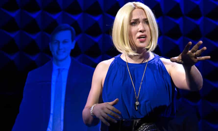 Ryan Raftery as Ivanka Trump in Ivanka 2020 at The Public Theater in New York, 2020.