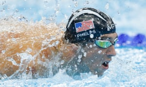 Michael Phelps on his way to silver during the men's 100m butterfly final
