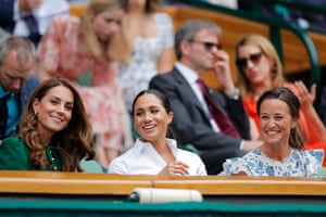 The duchesses in the royal box.