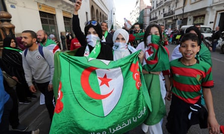Protesters in Algiers