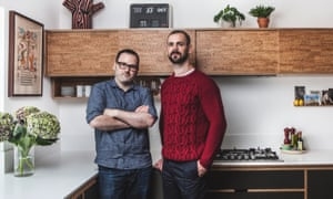 'Plywood is an honest material': Alan Drumm and James Hoy in Alan's kitchen.